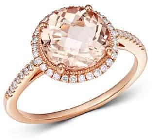 Meira T 14K Rose Gold Morganite & Diamond Ring