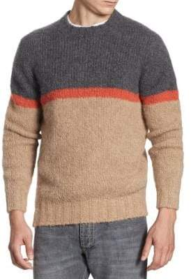 Brunello Cucinelli Colorblock Long-Sleeve Sweater