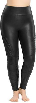 Spanx Plus Moto Faux Leather Leggings