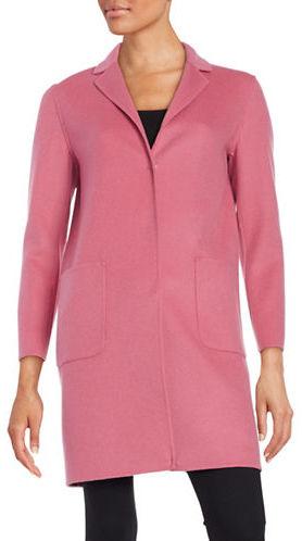 Max MaraWeekend Max Mara Solid Long Sleeve Coat