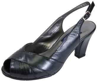 5d93701d303 Peerage Daphne Women Extra Wide Width Peep Toe Pleated Upper Slingback with  Buckle 9