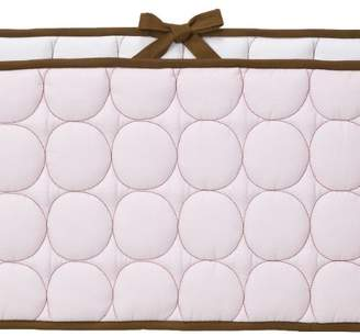 Bacati Quilted Circles Pink/Choc Bumper Pad