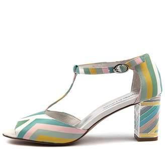 Django & Juliette Neve Pastel multi Sandals Womens Shoes Dress Heeled Sandals
