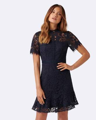 Forever New Daphne Lace Short Sleeve Dress