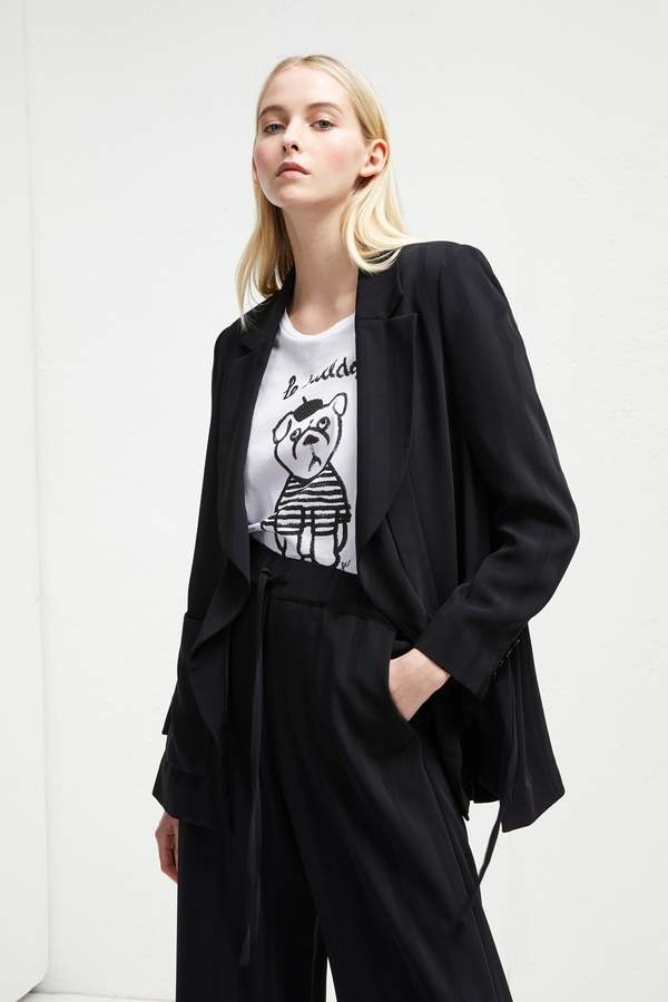 French Connenction Aleida Suiting Longline Jacket