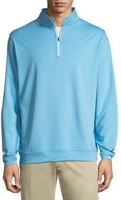Peter Millar Perth Quarter-Zip Melange Sweatshirt