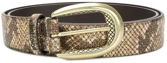 Just Cavalli snakeskin effect belt