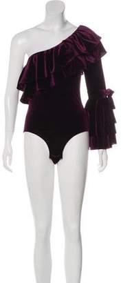 MISA Los Angeles One-Shoulder Long Sleeve Bodysuit