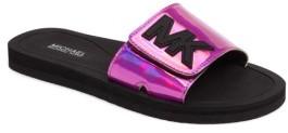 Girl's Michael Michael Kors Eli Slide Sandal $30 thestylecure.com