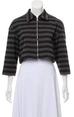 Prada Striped Cropped Jacket