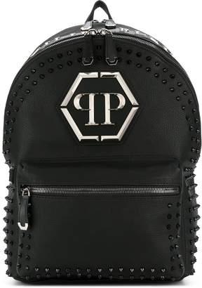 Philipp Plein studded logo backpack