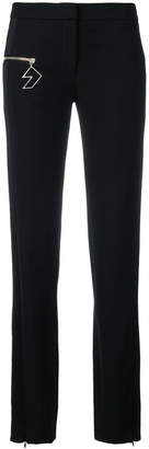 Versus slim-fit zipped pocket trousers