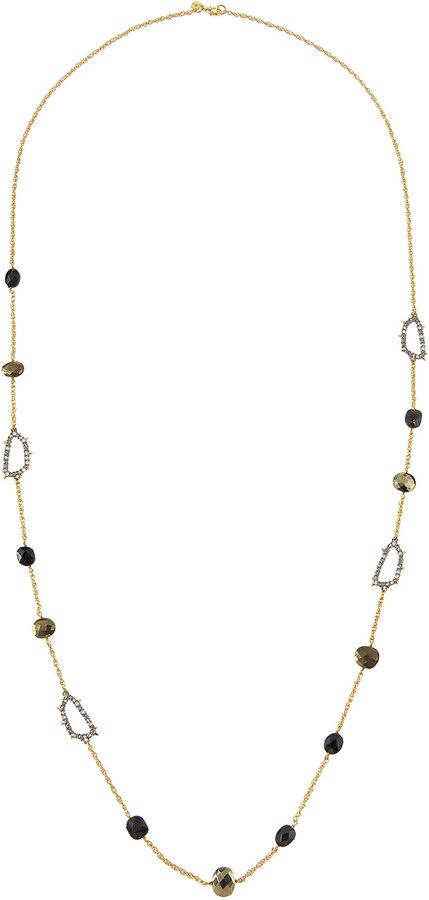 Alexis BittarAlexis Bittar Long Mixed Crystal Station Necklace, Neutral
