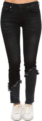 R 13 Alison Skinny with Double Shredded Hem