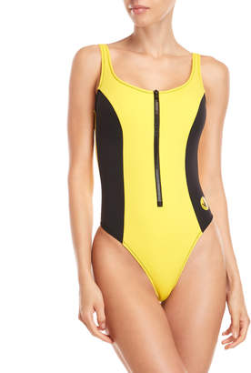 Body Glove Zip Front One-Piece Swimsuit