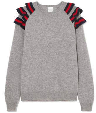 Madeleine Thompson Dia Ruffled Cashmere Sweater - Gray