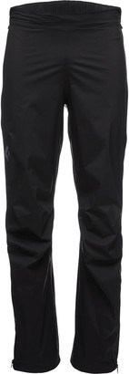 Black Diamond Stormline Stretch Full Zip Rain Pant - Men's