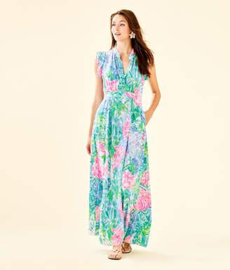 Lilly Pulitzer Palm Beach Silk Maxi Dress