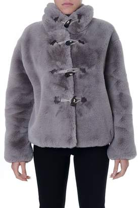 Golden Goose Faux Fur In Taupe Color
