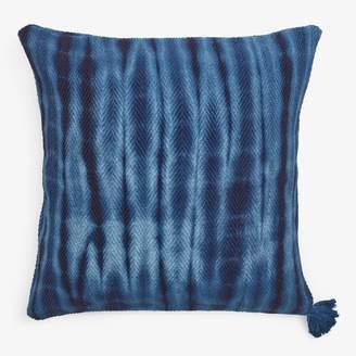 ABC Home Handwoven Tie-Dye Pillow Indigo
