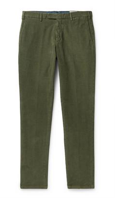 Boglioli Slim-Fit Cotton-Blend Corduroy Chinos - Men - Green