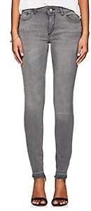 Dl 1961 Women's Florence Instasculpt Crop Jeans - Light Gray Size 26