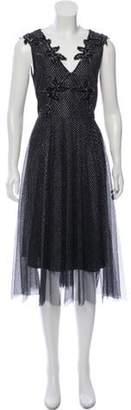 Christopher Kane Metallic Embellished Dress Metallic Metallic Embellished Dress