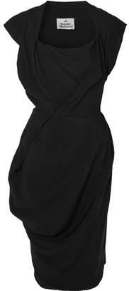 Vivienne Westwood - Draped Crepe De Chine Dress - Black