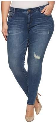 KUT from the Kloth Plus Size Toothpick Skinny in Zest Women's Jeans