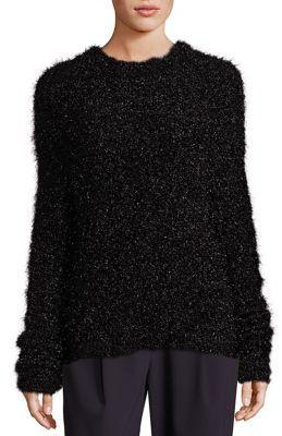 Tibi Gleam Crewneck Sweater $365 thestylecure.com