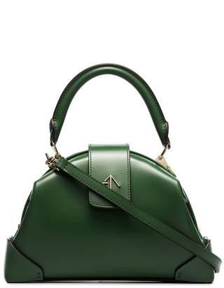 Atelier Manu jade green Demi top handle leather handbag