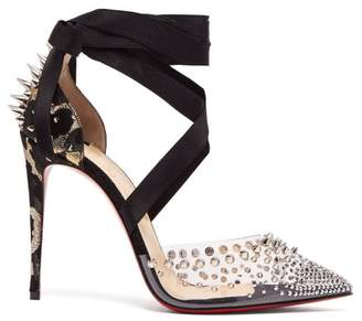 Christian Louboutin - Mechante Reine 100 Stud Embellished Stiletto Pumps - Womens - Black Gold
