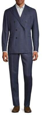 Boglioli Double-Breasted Wool Suit