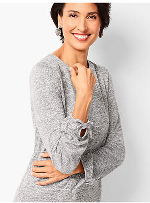 Talbots Refined Crepe Tie-Sleeve Top - Marled Shimmer