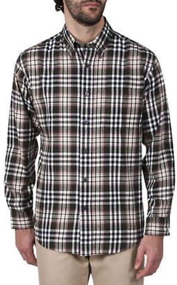 Haggar Multi-Plaid Cotton Flannel Shirt