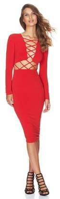 Walmart Sale Prices Fashion Clubwear Dress Cross Straps Front Long Sleeve Bodycon Bandage Dress