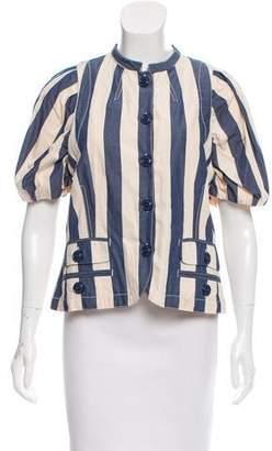 Marc Jacobs Stripe Short Sleeve Jacket