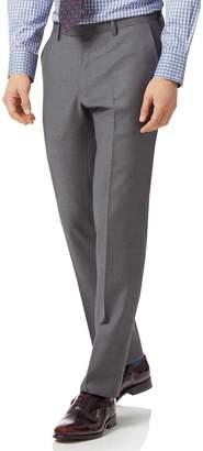 Charles Tyrwhitt Grey Slim Fit Twill Business Suit Wool Pants Size W32 L30