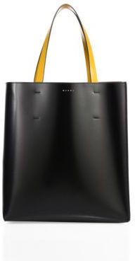 Marni Leather Shopping Bag $1,220 thestylecure.com