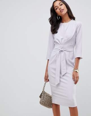 ef88a48fd2e9 Asos Design DESIGN tie wrap around midi dress