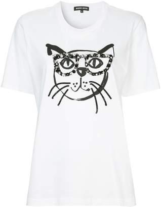 Markus Lupfer cat applique T-shirt