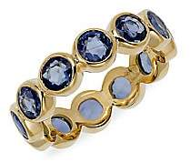 Temple St. Clair Women's Classic Color Mixed Sapphire & 18K Yellow Gold Eternity Band Ring
