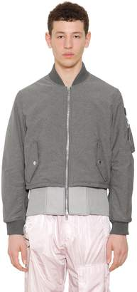 Givenchy Chambray Effect Nylon Bomber Jacket