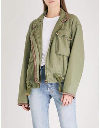 Free People Flight Line cotton bomber jacket