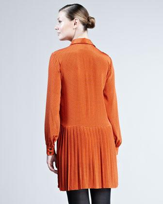 Kate Spade Sullivan Square-Print Shirtdress