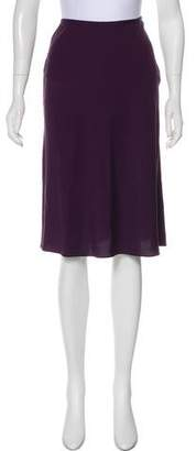 Calvin Klein Collection Silk Knee-Length Skirt