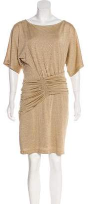 Ali Ro Metallic Knit Mini Dress