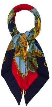 Hermes Soleil De Soie Cashmere Silk Shawl