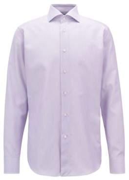 HUGO BOSS Cotton Dress Shirt, Regular Fit T-Stenson 15.5 Light Purple