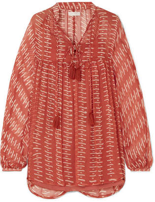 Cloe Cassandro - Tessa Printed Silk-crepon Mini Dress - Red
